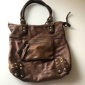 Linea Pelle Genuine Italian Brown Leather Bag